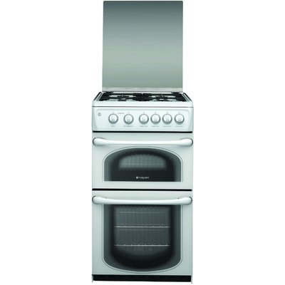 Hotpoint 50HGP 50cm Gas Double Oven in Polar White - 5016108797129