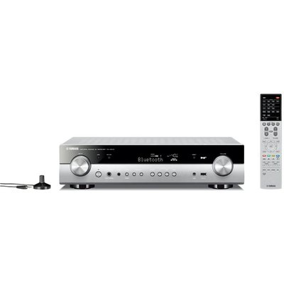 Yamaha RXS602 5 1 Channel Network AV Receiver in Titanium with Canton Movie 75 5 1 Surround Sound System in Black - 4957812633710