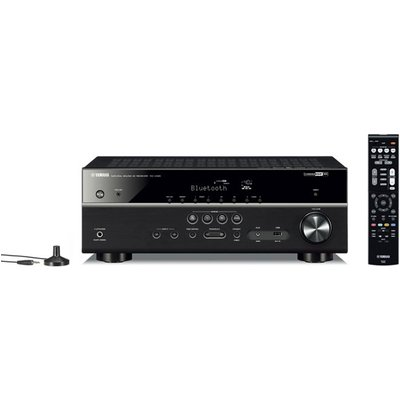 Yamaha MusicCast RXV485 5 1 Channel AV Receiver 3 Year Warranty with NSP41 5 1 Speaker package in Black - 4957812628907