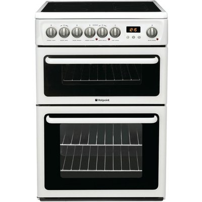 Hotpoint HAE60PS 60cm Wide Freestanding Electric Cooker in Polar White - 5016108810125
