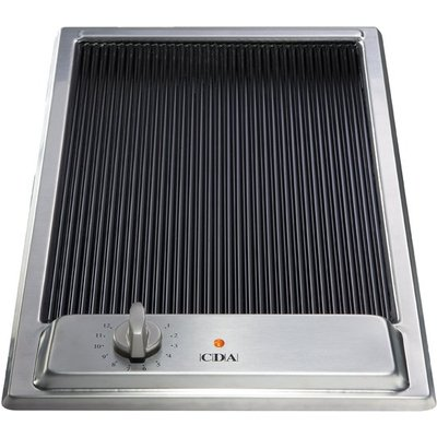 CDA HCC310SS 30cm Ceramic Griddle in Stainless Steel With 5Yr Parts Guarantee - 5060143311253