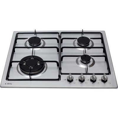 CDA HG6250SS 4 Burner Gas Hob   Stainless Steel - 5055833402335