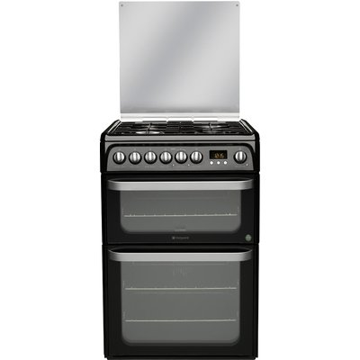 Hotpoint HUD61KS Dual Fuel Cooker  Black 5016108810040