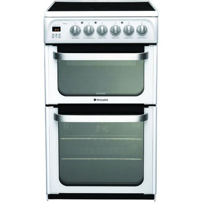 Hotpoint HUE53PS 50cm Freestanding Electric Cooker in Polar White - 5016108810194