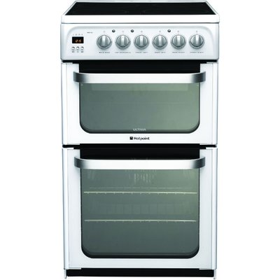 5016108810194 | Hotpoint HUE53PS 50cm Freestanding Electric Cooker in Polar White
