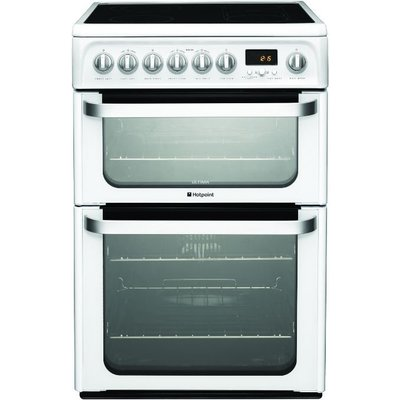 Hotpoint HUE62PS 60cm Wide Electric Cookers in Polar White - 5016108809419