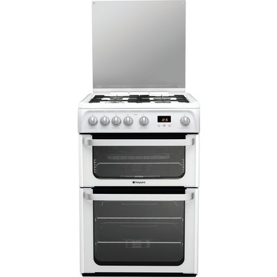 Hotpoint HUG61P 60cm Freestanding Gas Cooker in Polar White with FSD - 5016108624128