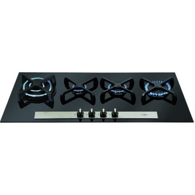 CDA HVG93BL 4 Burner Gas Hob   Black - 5060143318580