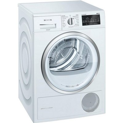 Siemens extraKlasse WT45W492GB 9kg Heat Pump Tumble Dryer - White