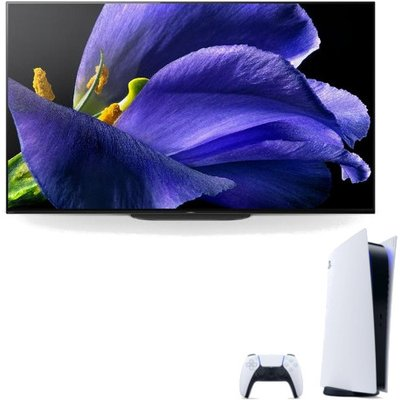 Sony BRAVIA OLED KD77AG9BU 77 inch 4K HDR Master Series TV with Sony Playstation 5 Console with Sony Playstation Game