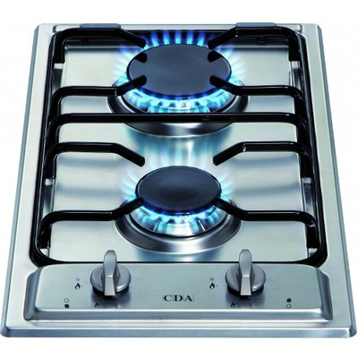 CDA HCG301SS 2 Burner Domino Gas Hob   Stainless Steel - 5060143315503
