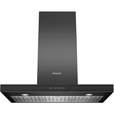 Hotpoint PHBS98CLTDK 90 cm Chimney Cooker Hood in Black - 5016108949955