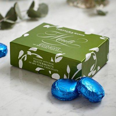 Fortnum & Mason English Mitcham Bittermints In Dark Chocolate, Vegan, 240G