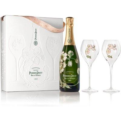 Fortnum & Mason Perrier-Jouët Belle Epoque & Champagne Flute Gift Set, 75Cl