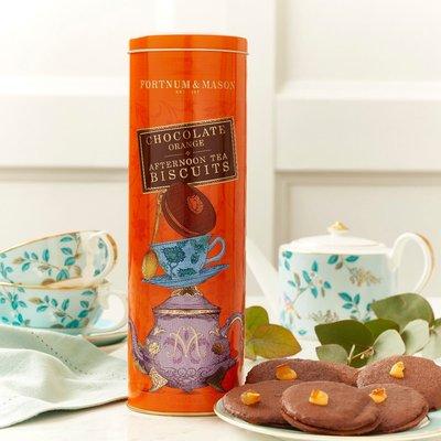 Fortnum's Afternoon Tea Biscuits, Chocolate Orange, 155G