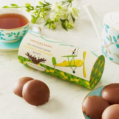 Fortnum & Mason Milk Chocolate Coated Lemon Biscuits, 180G