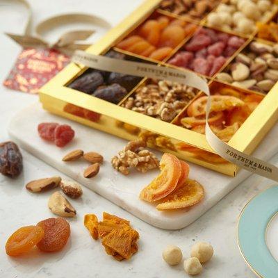 Fortnum & Mason Large Mixed Fruit & Nut Gift Box, 875G