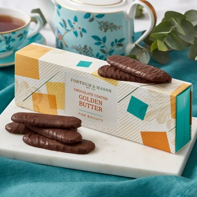 Fortnum's Chocolate Coated Golden Butter Fine Biscuits, 120G
