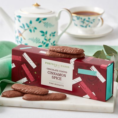 Fortnum's Chocolate Coated Cinnamon Spice Fine Biscuits, 120G