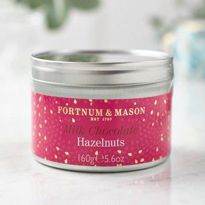 Fortnum & Mason Milk Chocolate Coated Hazelnuts, 160G