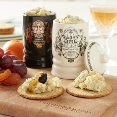 Fortnum & Mason Stilton Jar Duo Pack, Traditional & Truffle Honey