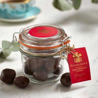 Highgrove Organic Chocolate Covered Ginger 95G
