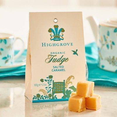 Highgrove Organic Salted Caramel Fudge Bag 100G