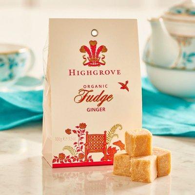 Highgrove Organic Ginger Fudge, 100G