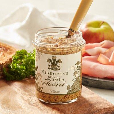 Highgrove Organic Wholegrain Mustard, 175G