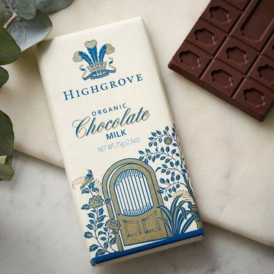 Highgrove Organic Milk Chocolate Bar, 75G