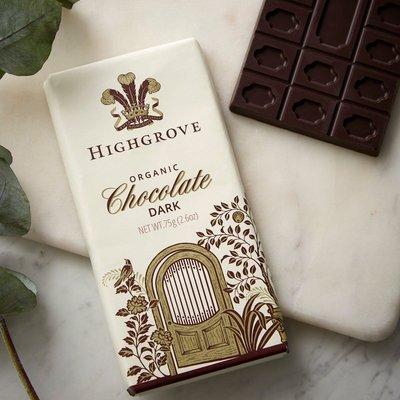 Highgrove Organic Dark Chocolate Bar, 75G