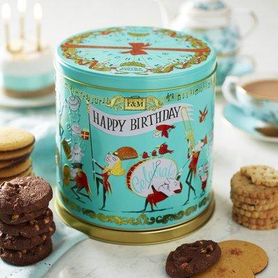 Fortnum & Mason Musical Birthday Biscuit Tin