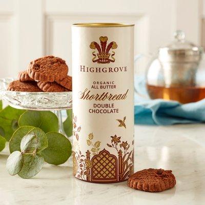 Highgrove Organic Double Chocolate Chip Shortbread, 110G