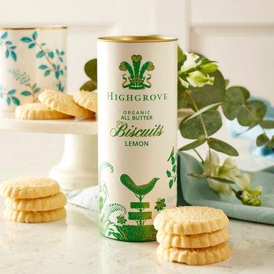 Highgrove Organic Lemon Biscuits, 125G