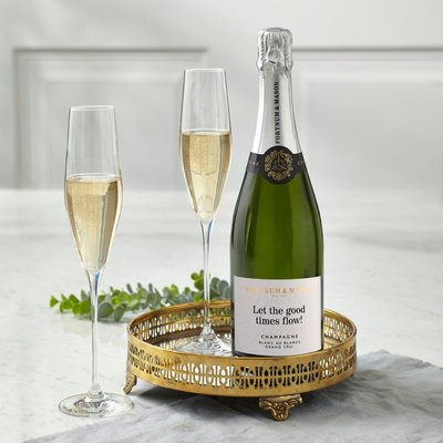 Fortnum's Personalised Blanc De Blancs Champagne, Hostomme, 75Cl
