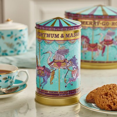 Fortnum & Mason Mini Merry Go Round Musical Biscuit Tin, 150G
