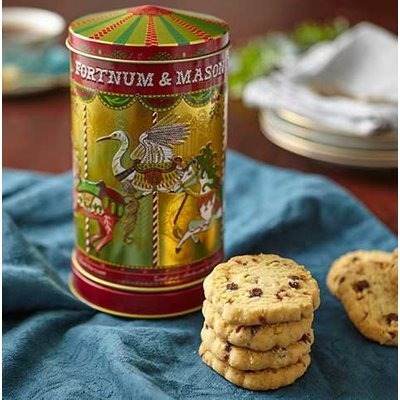 Fortnum & Mason Christmas Mini Merry Go Round Musical Biscuit Tin, 130G