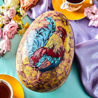 Fortnum & Mason Hand-Painted Cockerel Easter Egg, 500g