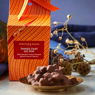 Fortnum & Mason Milk Chocolate Coated Pumpkin Spiced Caramel Popcorn, 100g