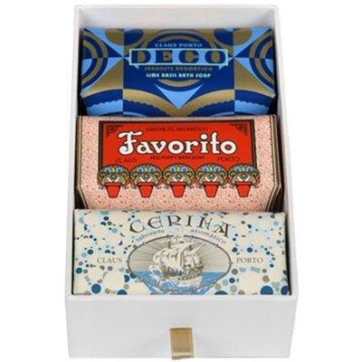 Claus Porto Soap Gift Box, Deco, Favorito, Cerina 3X150G