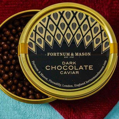 Fortnum & Mason Dark Chocolate Caviar Tin, 80G