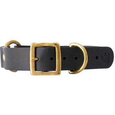 Fortnum & Mason Kintails Grey Leather Dog Collar, Small