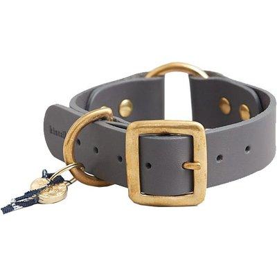 Fortnum & Mason Kintails Grey Leather Dog Collar, Medium