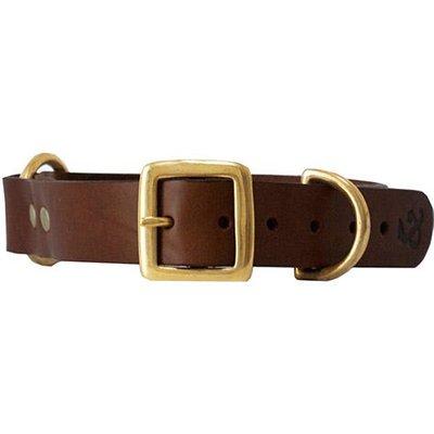 Fortnum & Mason Kintails Brown Leather Dog Collar, Small