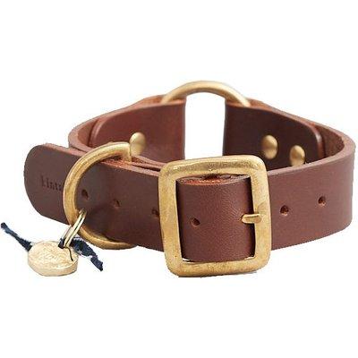 Fortnum & Mason Kintails Brown Leather Dog Collar, Medium