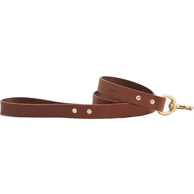 Fortnum & Mason Kintails Leather Dog Lead, Brown
