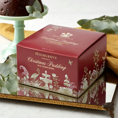 Highgrove Organic Christmas Pudding In China Bowl, 600G