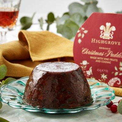 Fortnum & Mason Highgrove Organic Christmas Pudding, 454g