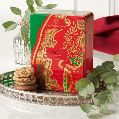 Fortnum & Mason Christmas Biscuit Selection Tin, 650G