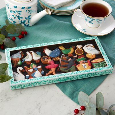 Fortnum & Mason 12 Days Of Christmas Iced Biscuits, 75G